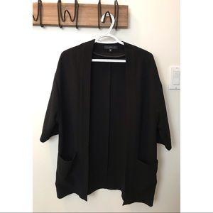 Black blazer cardigan